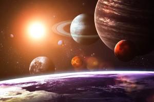 Солнечной-системы-как-видно-из-Космоса-земля-пейзаж-Плакат-водонепроницаемый-Холст-Ткань-Печати-Wall-Art-Decor